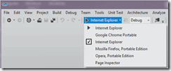 Visual Studio 11 Browser Menu