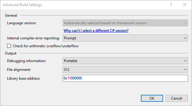 C# version auto select